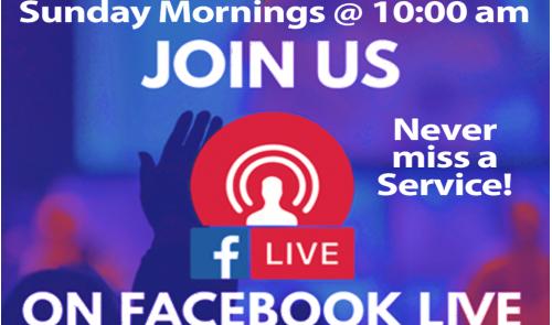Facebook Live Sun @10am